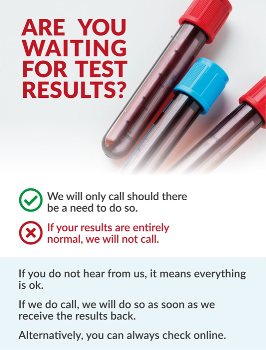 Are you waiting for test results?