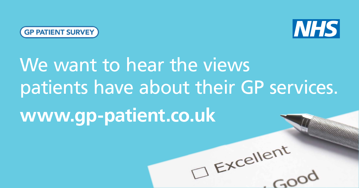 GP Patient survey. We want to hear the views patients have about their GP services